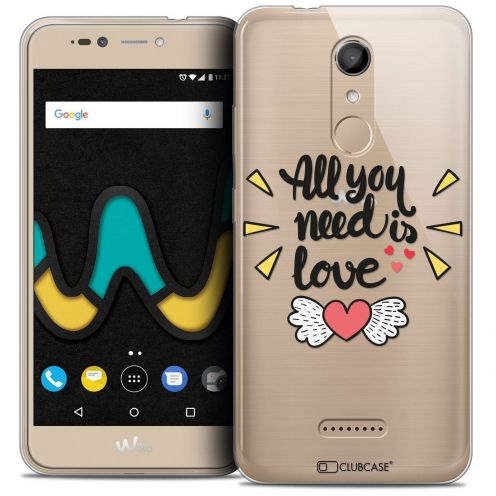 "Coque Crystal Gel Wiko U Pulse LITE (5.2"") Extra Fine Love - All U Need Is"