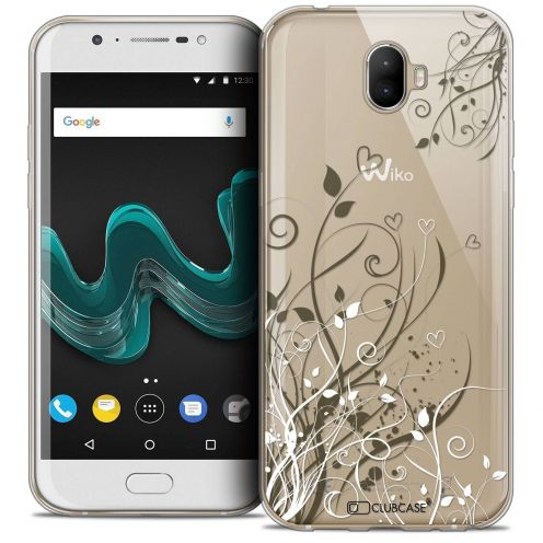 """Coque Crystal Gel Wiko Wim (5.5"""") Extra Fine Love - Hearts Flowers"""