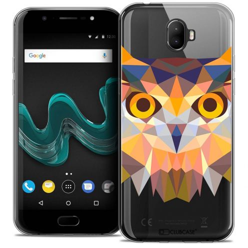 "Coque Crystal Gel Wiko Wim (5.5"") Extra Fine Polygon Animals - Hibou"