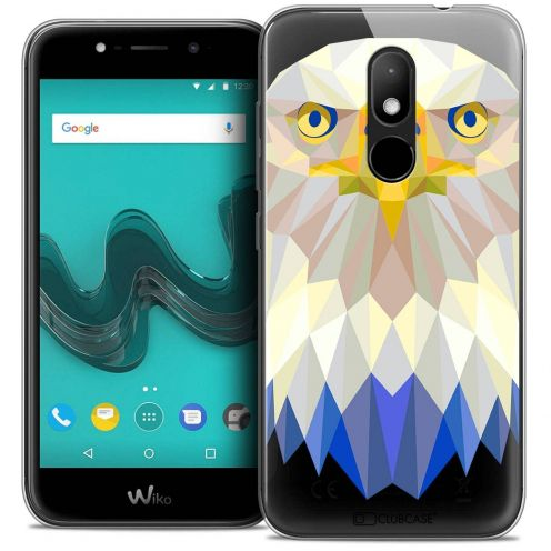 "Coque Crystal Gel Wiko Wim LITE (5.0"") Extra Fine Polygon Animals - Aigle"