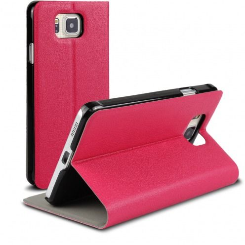 Vue Principale de Etui Galaxy Alpha Slim Folio Smart Magnet Rose