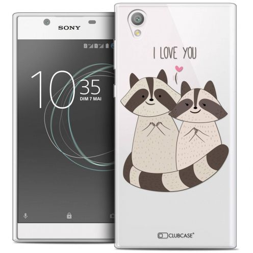 """Coque Crystal Gel Sony Xperia L1 (5.5"""") Extra Fine Sweetie - Racoon Love"""