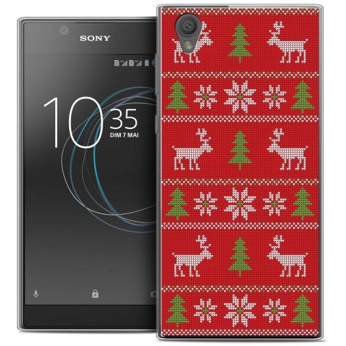 "Coque Crystal Gel Sony Xperia L1 (5.5"") Extra Fine Noël 2017 - Couture Rouge"
