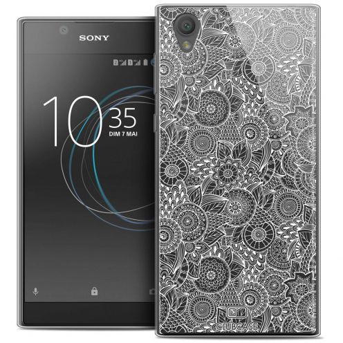 """Coque Crystal Gel Sony Xperia L1 (5.5"""") Extra Fine Dentelle Florale - Blanc"""
