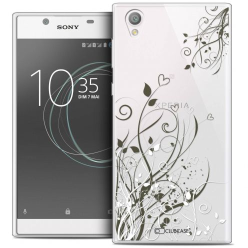 """Coque Crystal Gel Sony Xperia L1 (5.5"""") Extra Fine Love - Hearts Flowers"""