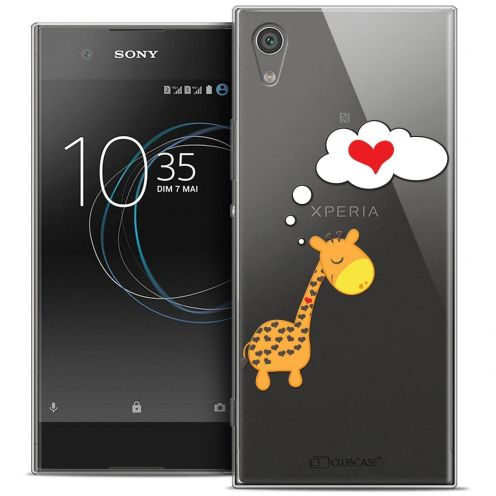 "Coque Crystal Gel Sony Xperia XA1 Ultra (6"") Extra Fine Love - Girafe Amoureuse"