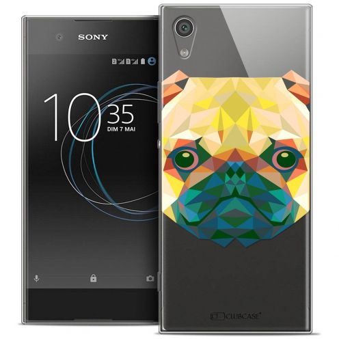 "Coque Crystal Gel Sony Xperia XA1 Ultra (6"") Extra Fine Polygon Animals - Chien"