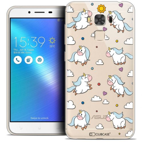 "Coque Crystal Gel Asus Zenfone 3 Max Plus ZC553KL (5.5"") Extra Fine Fantasia - Licorne In the Sky"