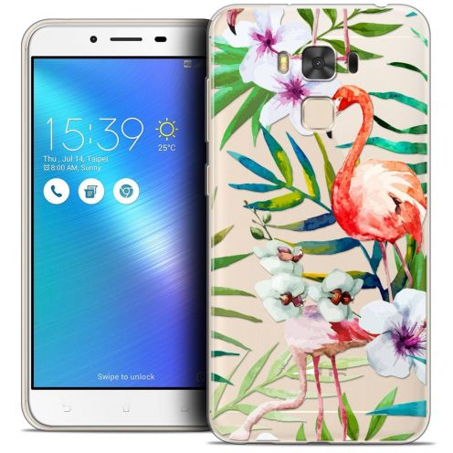 "Coque Crystal Gel Asus Zenfone 3 Max Plus ZC553KL (5.5"") Extra Fine Watercolor - Tropical Flamingo"