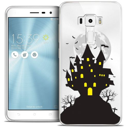 "Coque Crystal Gel Asus Zenfone 3 ZE520KL (5.2"") Extra Fine Halloween - Castle Scream"