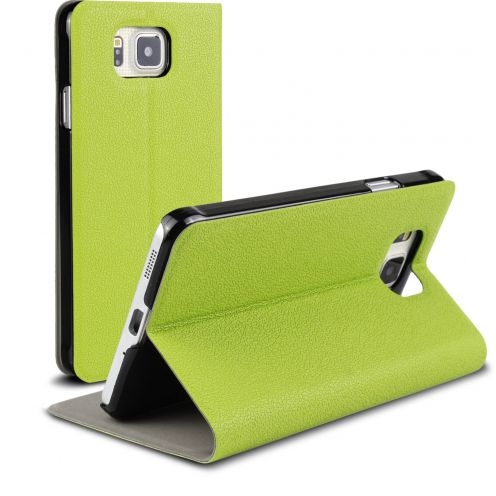 Etui Galaxy Alpha Slim Folio Smart Magnet Vert