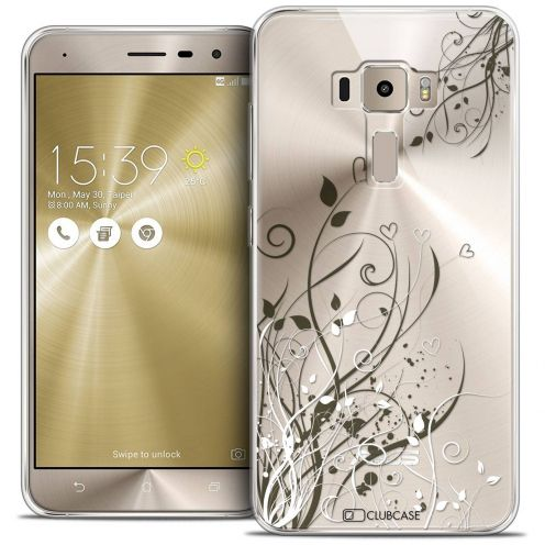 "Coque Crystal Gel Asus Zenfone 3 ZE520KL (5.2"") Extra Fine Love - Hearts Flowers"