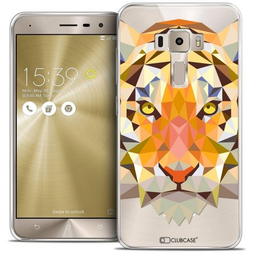 "Coque Crystal Gel Asus Zenfone 3 ZE520KL (5.2"") Extra Fine Polygon Animals - Tigre"