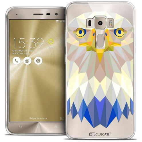 "Coque Crystal Gel Asus Zenfone 3 ZE520KL (5.2"") Extra Fine Polygon Animals - Aigle"