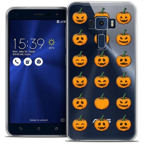 "Coque Crystal Gel Asus Zenfone 3 ZE520KL (5.2"") Extra Fine Halloween - Smiley Citrouille"