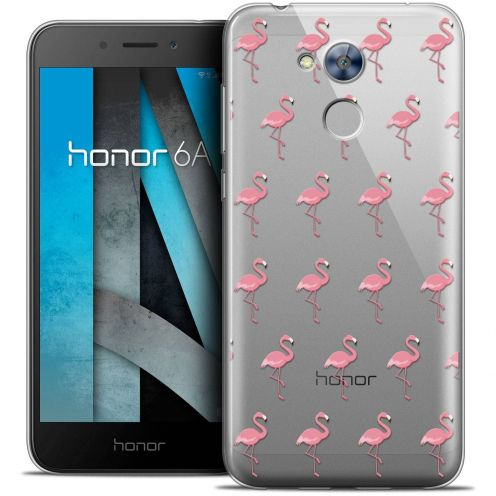 """Coque Crystal Gel Huawei Honor 6A (5"""") Extra Fine Pattern - Les flamants Roses"""