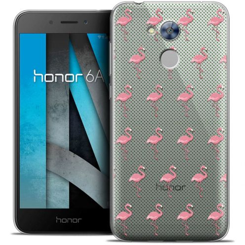 """Coque Crystal Gel Huawei Honor 6A (5"""") Extra Fine Pattern - Les flamants Roses Dots"""