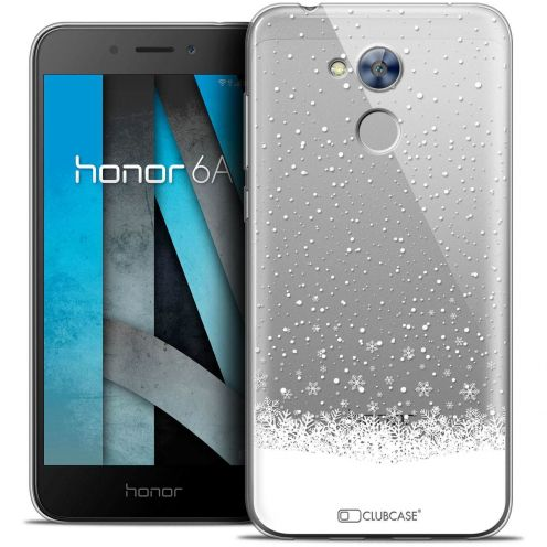 "Coque Crystal Gel Huawei Honor 6A (5"") Extra Fine Noël 2017 - Flocons de Neige"