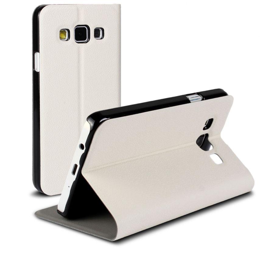 Vue Principale de Etui Galaxy A3 Slim Folio Smart Magnet Blanc