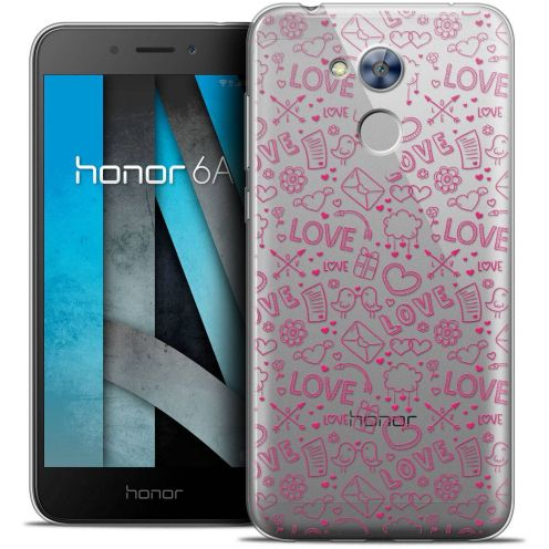 """Coque Crystal Gel Huawei Honor 6A (5"""") Extra Fine Love - Doodle"""