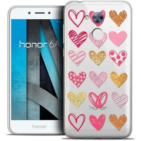 """Coque Crystal Gel Huawei Honor 6A (5"""") Extra Fine Sweetie - Doodling Hearts"""