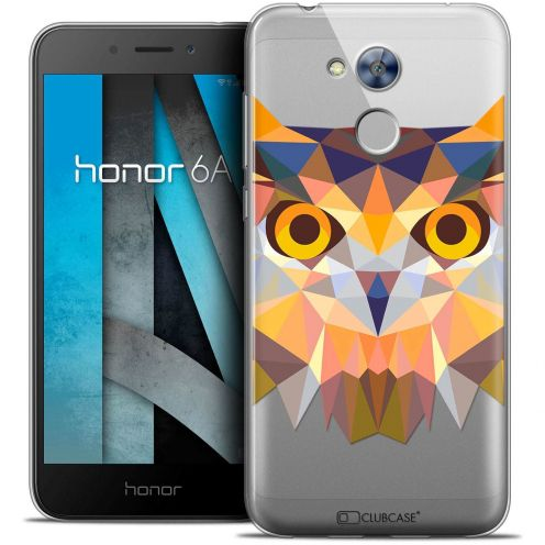 "Coque Crystal Gel Huawei Honor 6A (5"") Extra Fine Polygon Animals - Hibou"