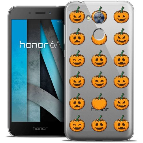 "Coque Crystal Gel Huawei Honor 6A (5"") Extra Fine Halloween - Smiley Citrouille"