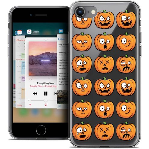 "Coque Crystal Gel Apple iPhone 8 (4.7"") Extra Fine Halloween - Cartoon Citrouille"