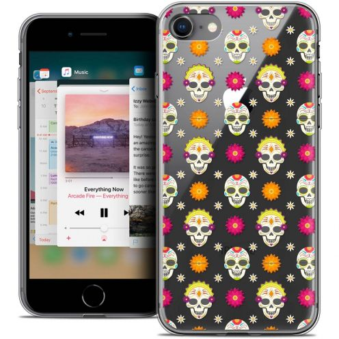 "Coque Crystal Gel Apple iPhone 8 (4.7"") Extra Fine Halloween - Skull Halloween"