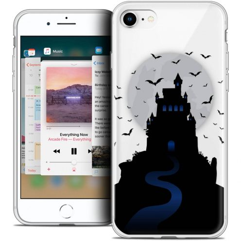 "Coque Crystal Gel Apple iPhone 8 (4.7"") Extra Fine Halloween - Castle Nightmare"