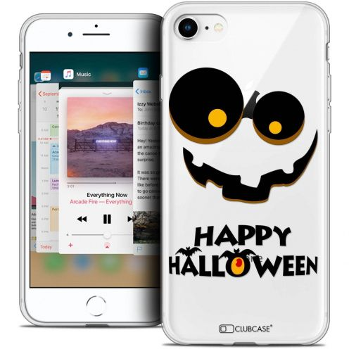 "Coque Crystal Gel Apple iPhone 8 (4.7"") Extra Fine Halloween - Happy"