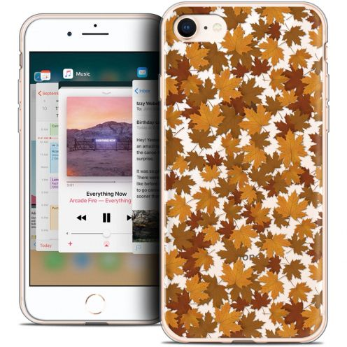 "Coque Crystal Gel Apple iPhone 8 (4.7"") Extra Fine Autumn 16 - Feuilles"