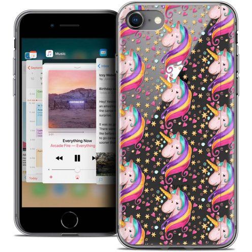 "Coque Crystal Gel Apple iPhone 8 (4.7"") Extra Fine Fantasia - Licorne Etoilée"