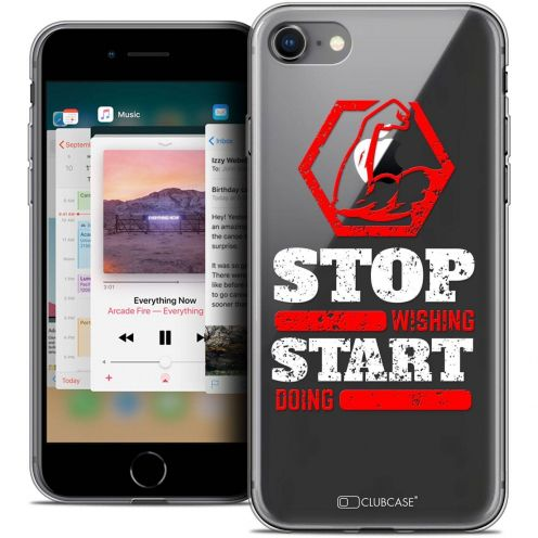 """Coque Crystal Gel Apple iPhone 8 (4.7"""") Extra Fine Quote - Start Doing"""
