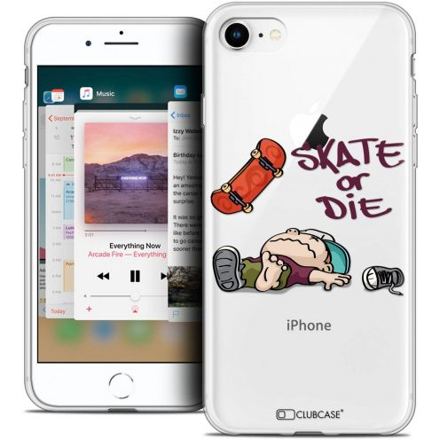 "Coque Crystal Gel Apple iPhone 8 (4.7"") Extra Fine BD 2K16 - Skate Or Die"