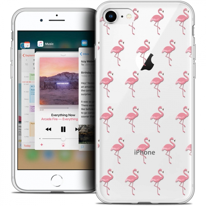 coque iphone 8 flamant rose