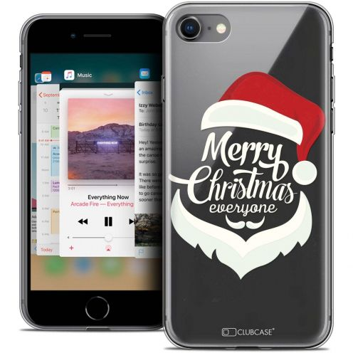 "Coque Crystal Gel Apple iPhone 8 (4.7"") Extra Fine Noël 2017 - Merry Everyone"