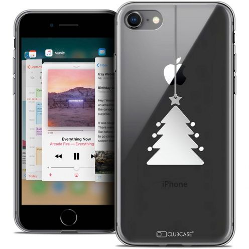 """Coque Crystal Gel Apple iPhone 8 (4.7"""") Extra Fine Noël 2017 - Petit Arbre"""