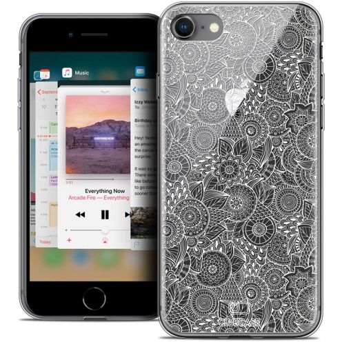 """Coque Crystal Gel Apple iPhone 8 (4.7"""") Extra Fine Dentelle Florale - Blanc"""