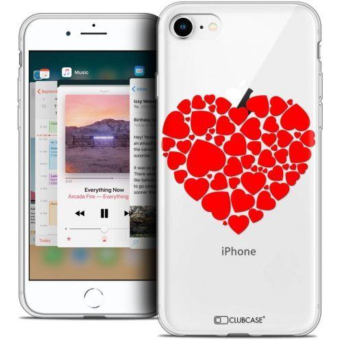"Coque Crystal Gel Apple iPhone 8 (4.7"") Extra Fine Love - Coeur des Coeurs"