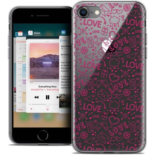 "Coque Crystal Gel Apple iPhone 8 (4.7"") Extra Fine Love - Doodle"