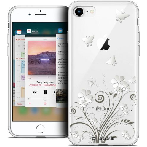 "Coque Crystal Gel Apple iPhone 8 (4.7"") Extra Fine Summer - Papillons"