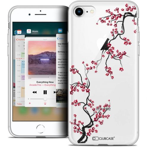 "Coque Crystal Gel Apple iPhone 8 (4.7"") Extra Fine Summer - Sakura"