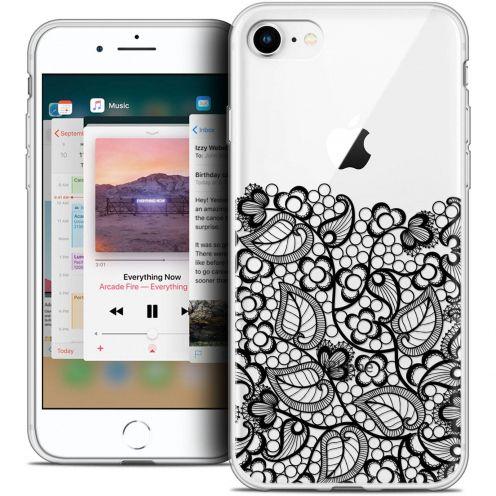 "Coque Crystal Gel Apple iPhone 8 (4.7"") Extra Fine Spring - Bas dentelle Noir"