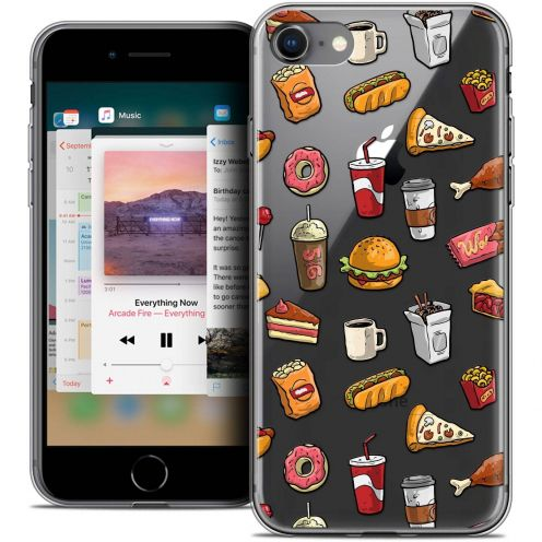 "Coque Crystal Gel Apple iPhone 8 (4.7"") Extra Fine Foodie - Fast Food"