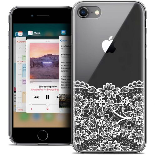 "Coque Crystal Gel Apple iPhone 8 (4.7"") Extra Fine Spring - Bas dentelle"