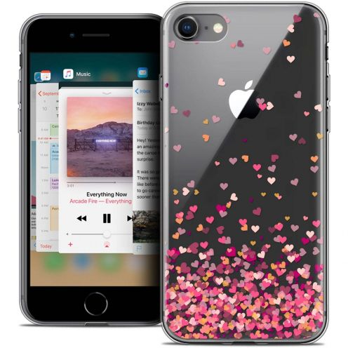 "Coque Crystal Gel Apple iPhone 8 (4.7"") Extra Fine Sweetie - Heart Flakes"