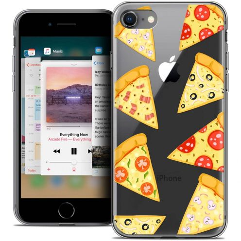 "Coque Crystal Gel Apple iPhone 8 (4.7"") Extra Fine Foodie - Pizza"