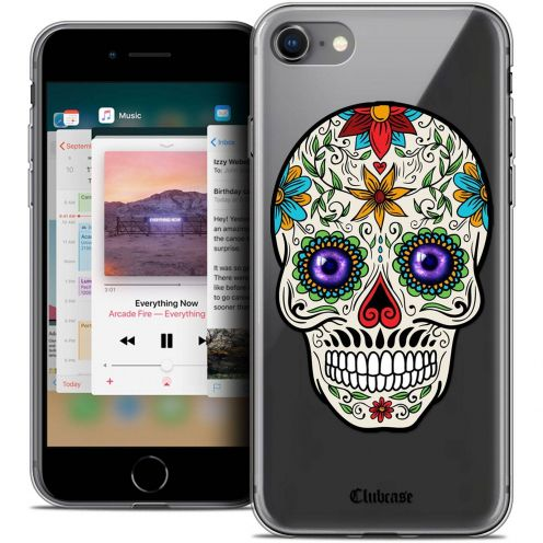"Coque Crystal Gel Apple iPhone 8 (4.7"") Extra Fine Skull - Maria's Flower"