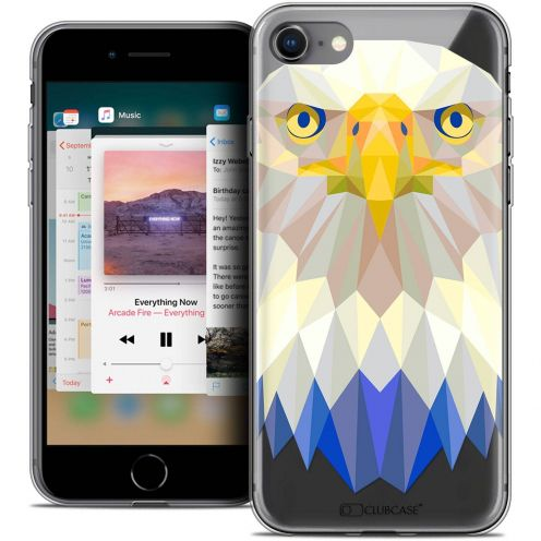 "Coque Crystal Gel Apple iPhone 8 (4.7"") Extra Fine Polygon Animals - Aigle"